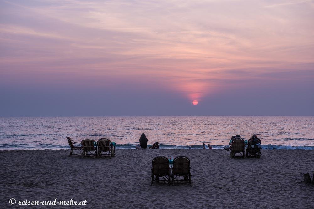 Sonnenuntergang am Agonda Beach, Goa