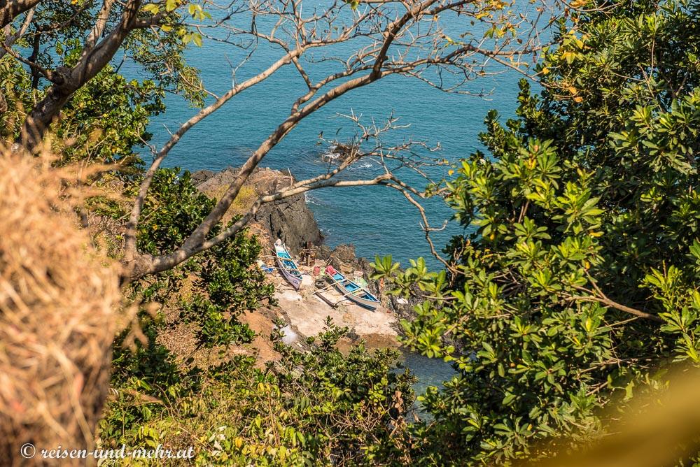 Idyllische Bucht nördlich von Agonda, Goa