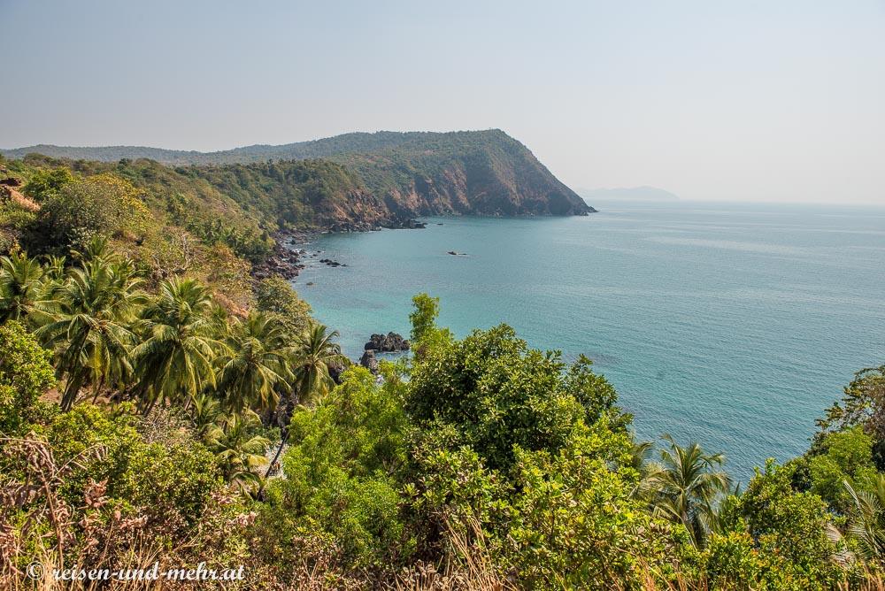 Ausblick vom Fort Cabo dem Rama, Goa