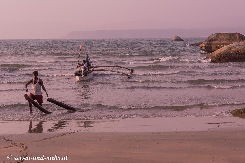 Fischer am Agonda Beach, Goa