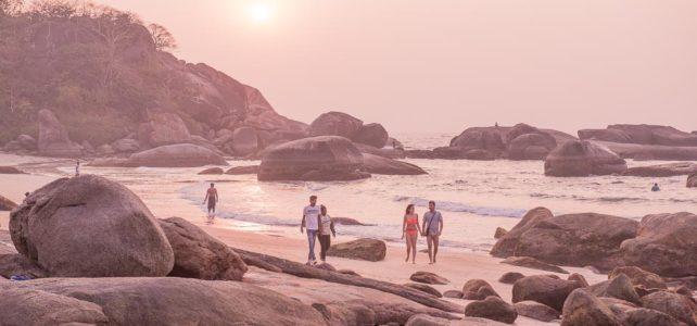 Sonneunstergang, Agonda Beach, Goa