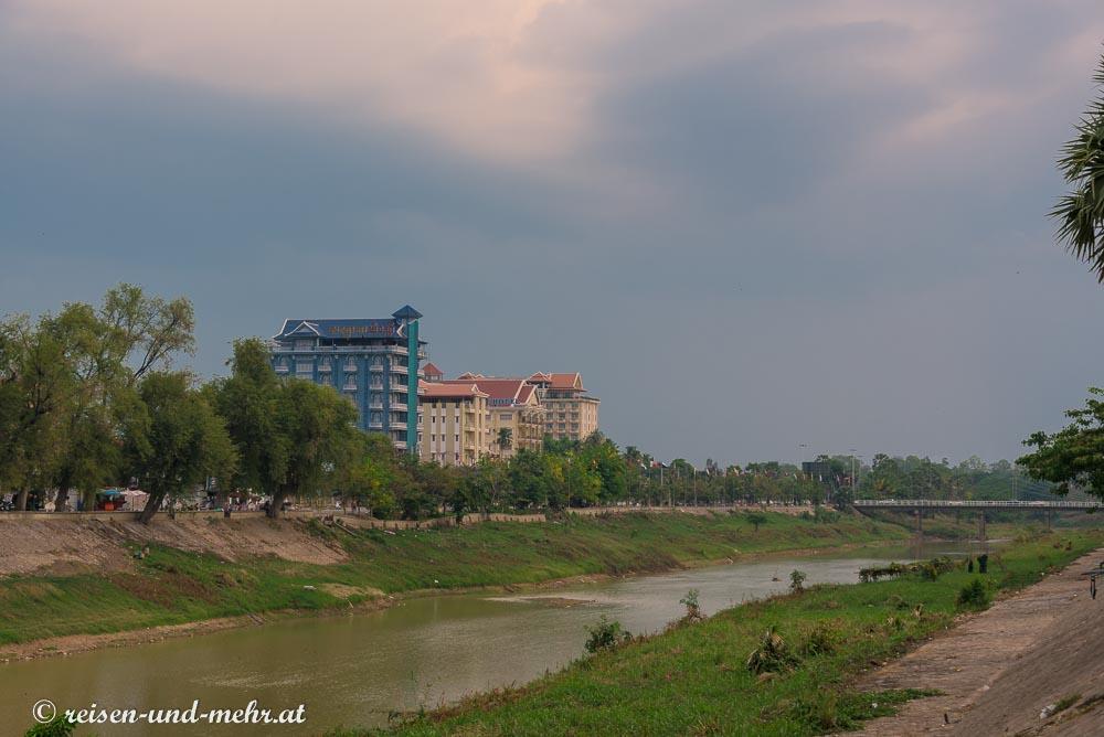 Sangkar Fluss, Battambang, Kambodscha