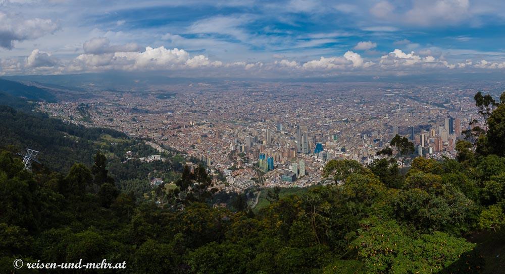 Bogota Ausblick vom Monserrate