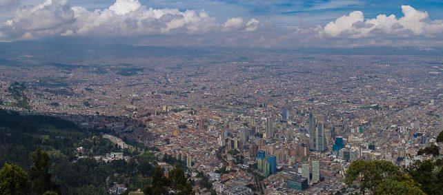 Ausblick auf Bogota vom Monserrate