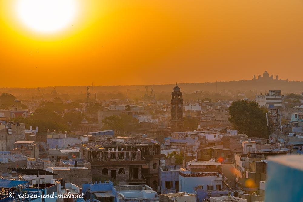 Jodhpur - die blaue Stadt bei Sonnenaufgang