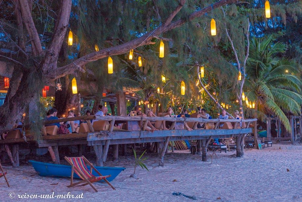 Abendstimmung am Sairee Beach, Koh Tao, Thailand