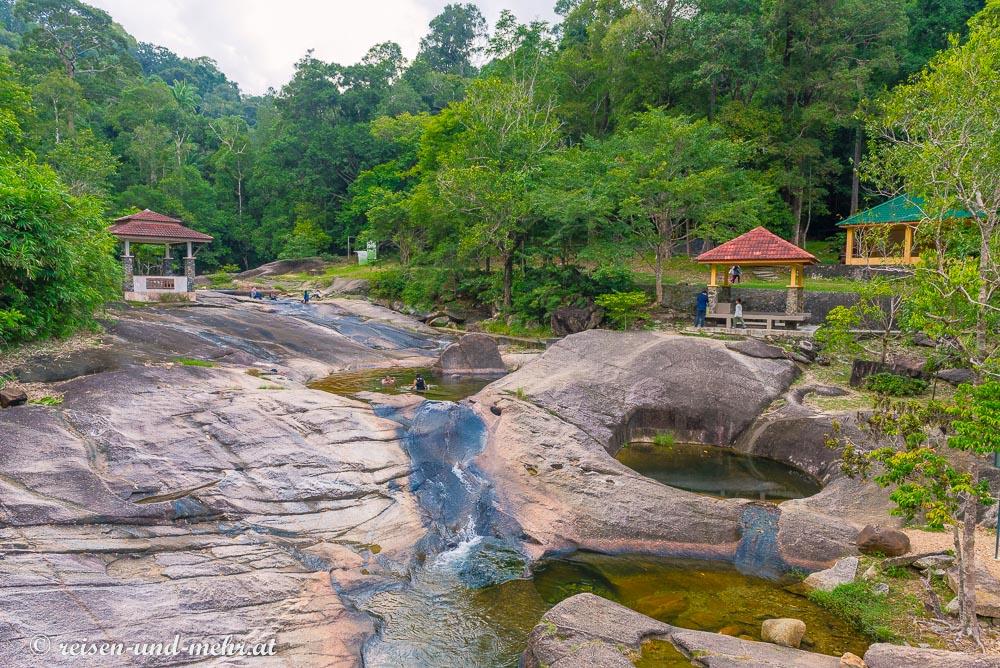 Becken der Seven Wells Waterfal, Langkawi