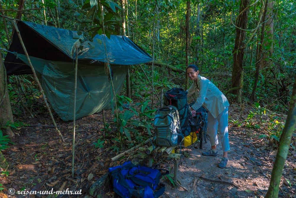 Nachtlager im Dschungel bei Leticia