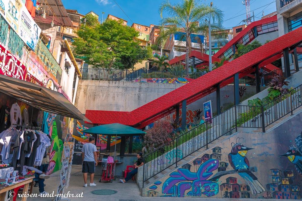 Rolltreppe in Comuna 13