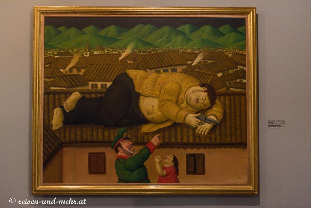 Boteros Bild vom erschossenen Pablo Escobar