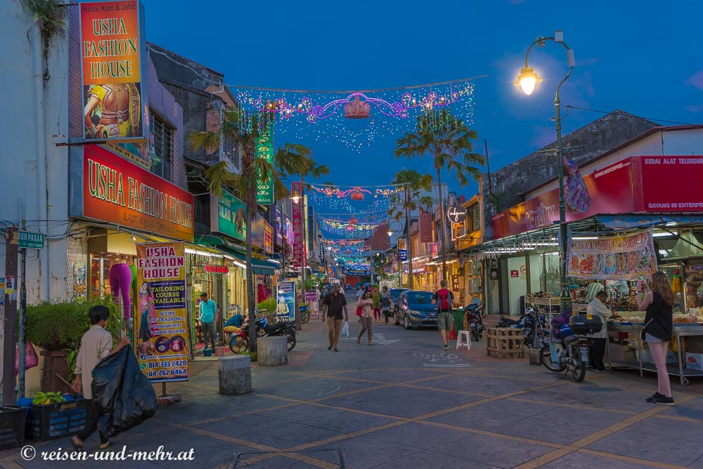 Little India bei Nacht, Georgetown, Penang