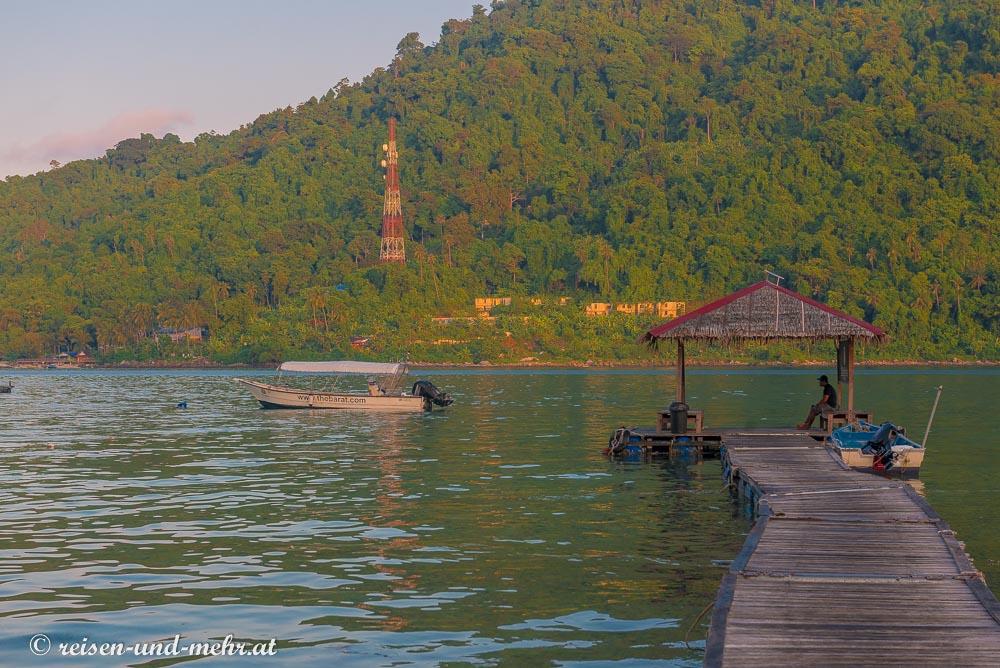 Anlegestelle auf Besar, Perhentian Islands