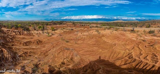 Tatacoa Wüste – Farbenspiele in rot und grau