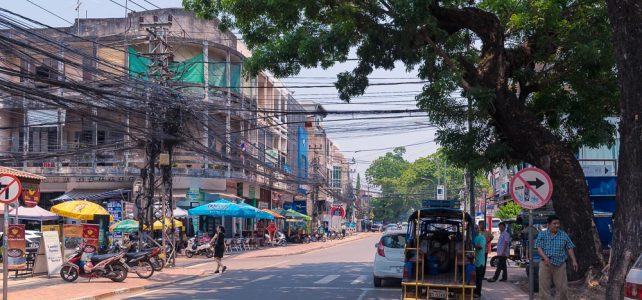 Hauptstraße in Vientiane